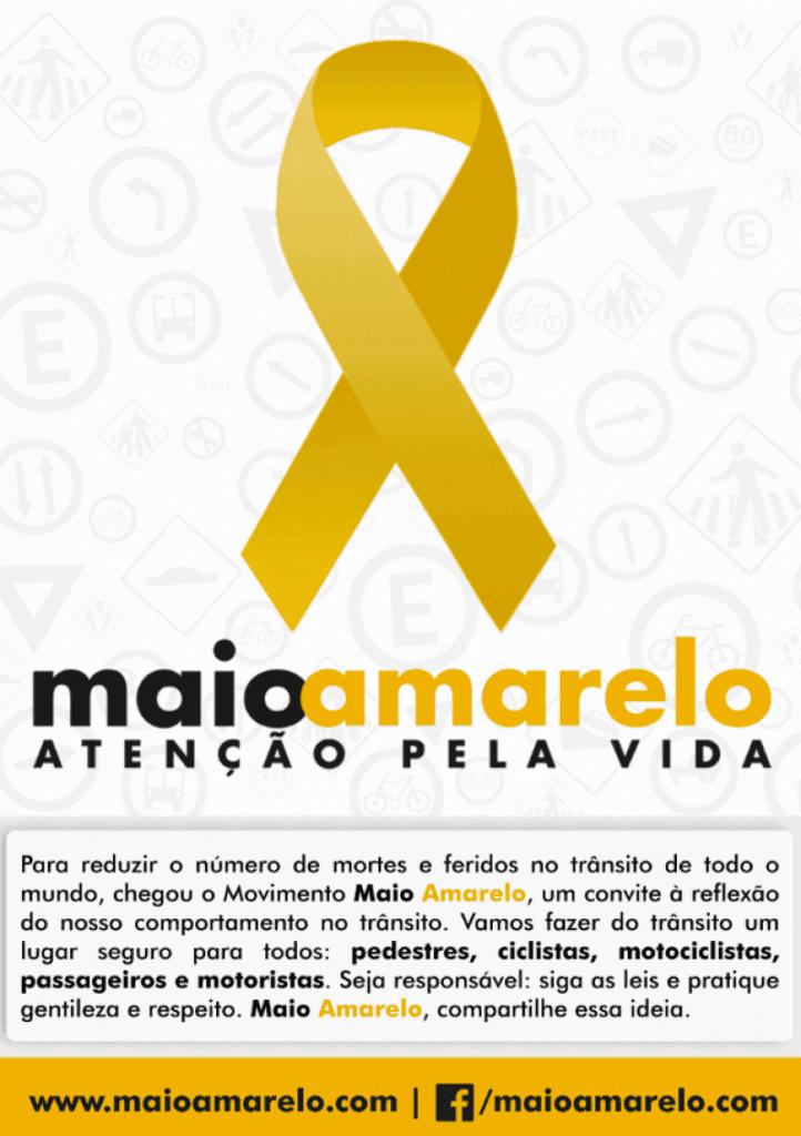 campanha maio amarelo atencao pela vida